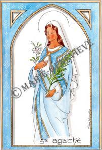 sainte Agathe.