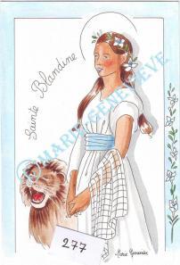 sainte Blandine.