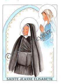 sainte Jeanne Elisabeth.