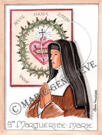 sainte Marguerite Marie .