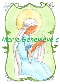 Ste Vierge au tricot
